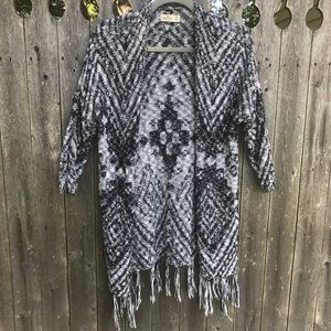 Hollister Cardigan Sweater with Fringe XS